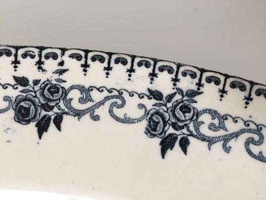 Винтажная посуда. Ярмарка Мастеров - ручная работа. Купить 1878 - 1920. Блюдо TERRE DE FER Choisy-le-Roi. Handmade.