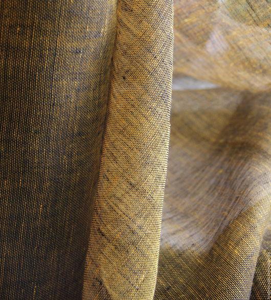 №757 Лён 100% Цвет-нити двух цветов желтого и черного Ширина-167см Пр-во-Польша Цена-200р