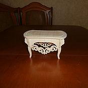 handmade. Livemaster - original item Furniture for dolls: Stool, ottoman 1557. Handmade.