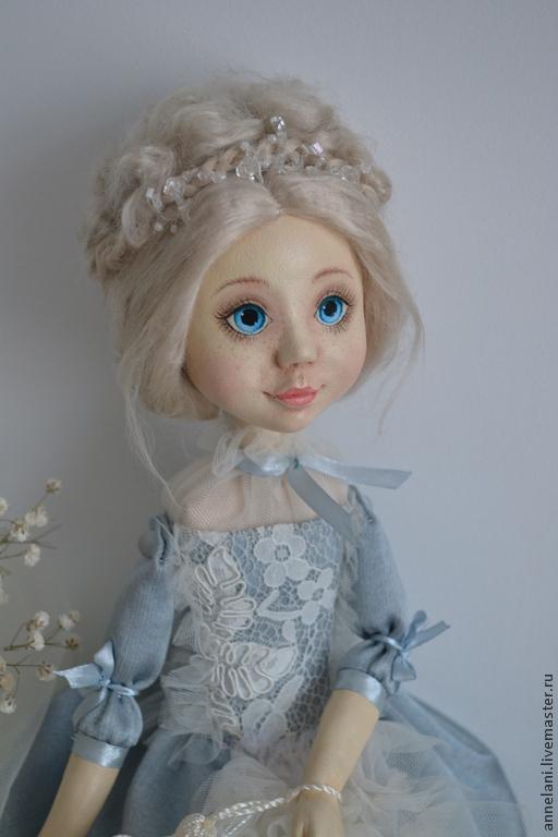 Коллекционные куклы ручной работы. Ярмарка Мастеров - ручная работа. Купить Мотылек. Handmade. Голубой, шёлковые волокна
