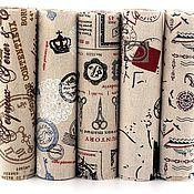 Материалы для творчества ручной работы. Ярмарка Мастеров - ручная работа Набор тканей 5 шт. Хлопок. 20х40 см. Крафт стиль. Handmade.