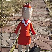 """Куклы и игрушки ручной работы. Ярмарка Мастеров - ручная работа Бортпроводники """"Аэрофлот"""". Handmade."""