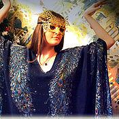 Одежда ручной работы. Ярмарка Мастеров - ручная работа Платье -  туника  Жар - Птица,  вечернее, авторская роспись.. Handmade.