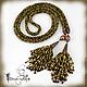 Lariat beaded 'Jurmala' harness necklace belt, Lariats, Moscow,  Фото №1