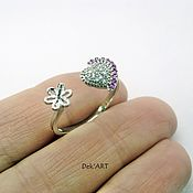 Материалы для творчества handmade. Livemaster - original item The basis for ring silver plated Art. 92504 approx.. Handmade.