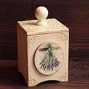 """Для дома и интерьера ручной работы. Ярмарка Мастеров - ручная работа Короб для чая """"Лаванда"""" маленький. Handmade."""