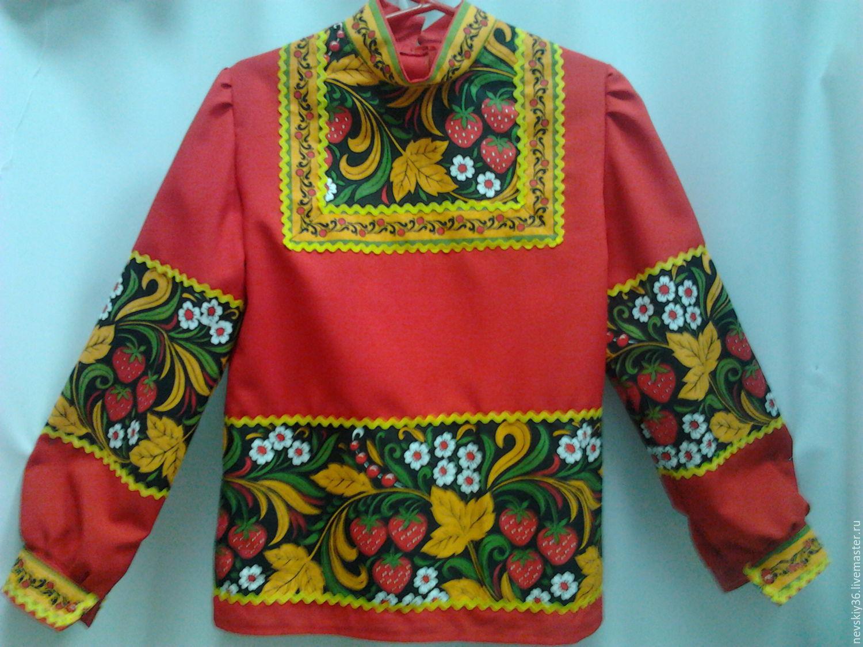 Рубашка Хохлома BlagoF арт БЛ349 купить в интернет