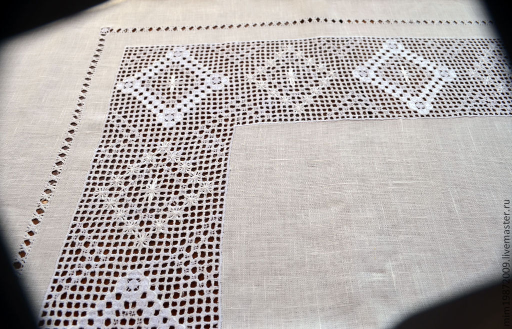 Мережка ажурная вышивка