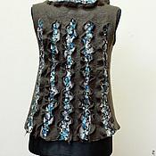 """Одежда ручной работы. Ярмарка Мастеров - ручная работа """"Скальные трещинки"""" жилет. Handmade."""