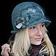 """Шляпы ручной работы. Шляпка """"Туман в тропическом лесу"""". Shellen's HATS. Интернет-магазин Ярмарка Мастеров. Цветы, орнамент, shellendesign"""