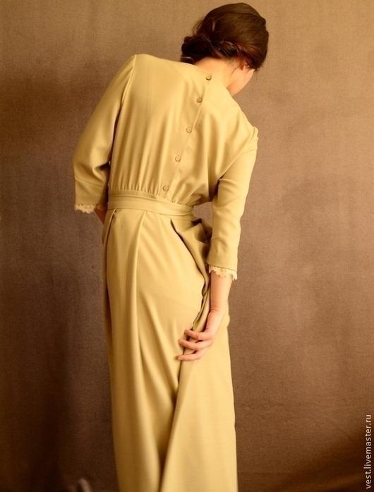 Платья ручной работы. Ярмарка Мастеров - ручная работа. Купить Платье в пол Светлое. Handmade. Платье, романтика, шерсть