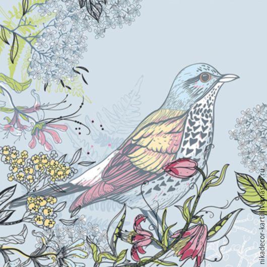 Декупаж и роспись ручной работы. Ярмарка Мастеров - ручная работа. Купить Синяя птица (SLOG032401) - салфетка для декупажа. Handmade. Разноцветный