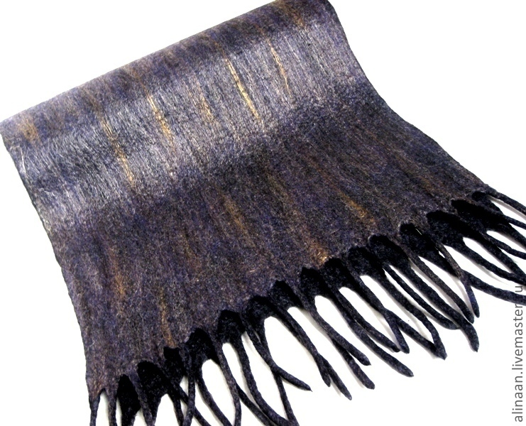 Men's felted scarf 'breeze', Scarves, Moscow, Фото №1