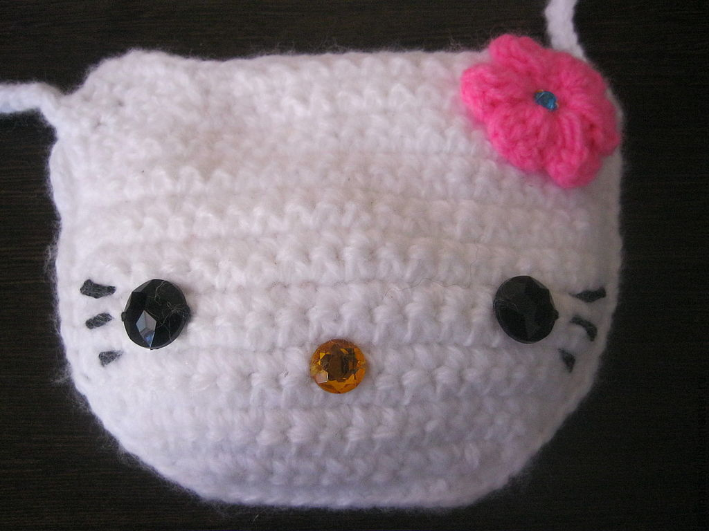 Bag for girls hello kitty knitted u2013 shop online on livemaster with