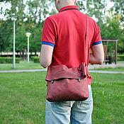 """Сумки и аксессуары ручной работы. Ярмарка Мастеров - ручная работа Crossbody """"Мешок"""" из натуральной кожи (сумка через плечо). Handmade."""