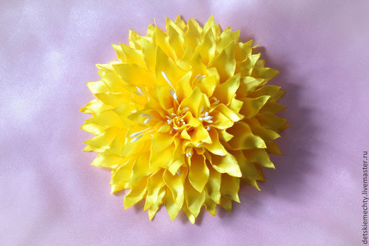 """Детская бижутерия ручной работы. Ярмарка Мастеров - ручная работа. Купить заколка для волос """"Солнышко"""". Handmade. Желтый, детям, аксессуары"""