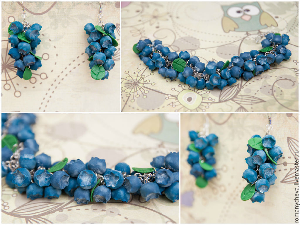 Kit 'Blueberry', Jewelry Sets, Kovrov,  Фото №1