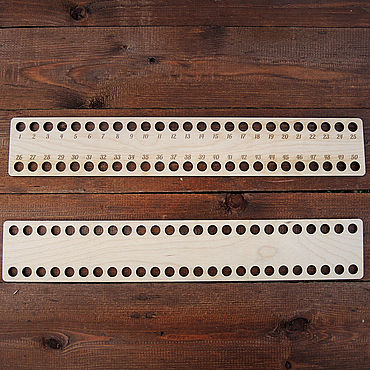 Материалы для творчества ручной работы. Ярмарка Мастеров - ручная работа Линейка-органайзер для ниток, F-0775. Handmade.