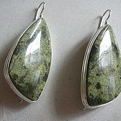 Украшения handmade. Livemaster - original item Original earrings SERPENTINE,silver.. Handmade.