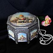Для дома и интерьера handmade. Livemaster - original item Finift box Temples of Russia.. Handmade.
