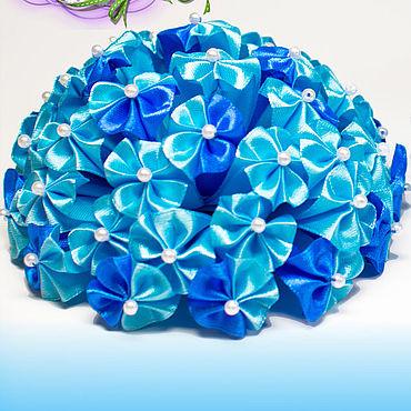 "Аксессуары ручной работы. Ярмарка Мастеров - ручная работа Банты-шары ""Голубая лагуна"". Handmade."