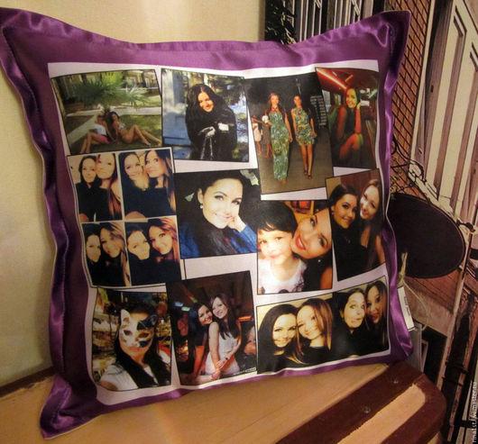 Персональные подарки ручной работы. Ярмарка Мастеров - ручная работа. Купить подушка с фотографиями. Handmade. Комбинированный, подушка с рисунком, любимому