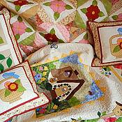Для дома и интерьера ручной работы. Ярмарка Мастеров - ручная работа лоскутное одеяло НЕЖНОСТЬ. Handmade.