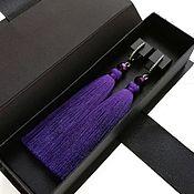 Украшения handmade. Livemaster - original item Dark purple earrings tassels. Handmade.