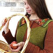 Одежда ручной работы. Ярмарка Мастеров - ручная работа Кофта вязаная на пуговицах Лесная. Handmade.