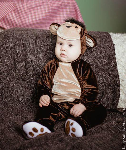 Карнавальный новогодний костюм Обезьянки для малышей и детей
