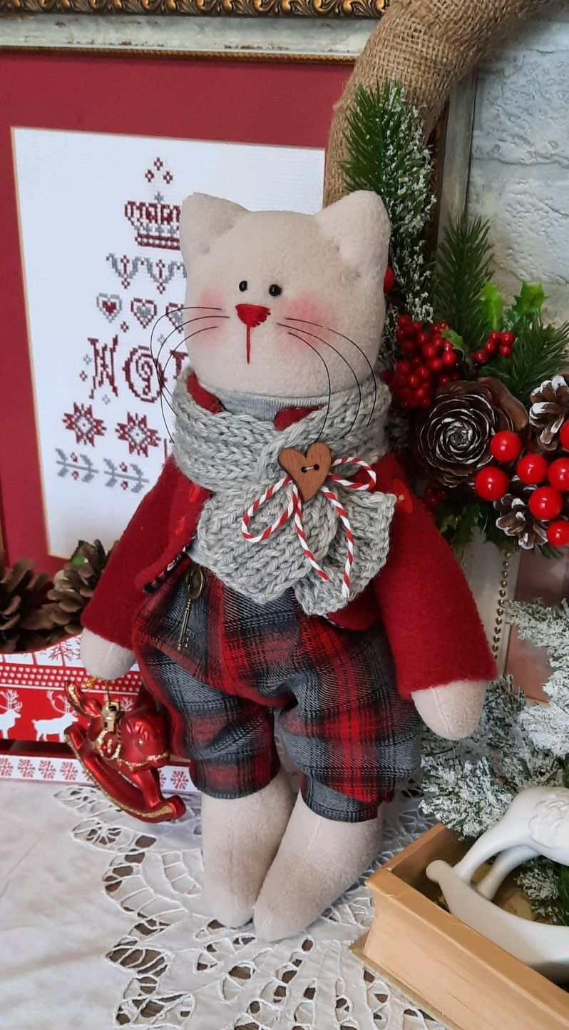 Cat in new year's, cat, Stuffed Toys, St. Petersburg,  Фото №1