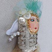 """Куклы и игрушки ручной работы. Ярмарка Мастеров - ручная работа Куколка """"Ангелочек парчовый"""""""". Handmade."""