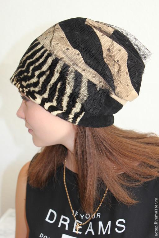 """Шляпы ручной работы. Ярмарка Мастеров - ручная работа. Купить """"Черная вуаль"""" шапка из натурального  меха.. Handmade. Меховая шапка"""