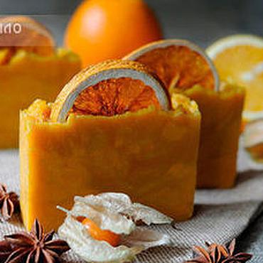 Косметика ручной работы. Ярмарка Мастеров - ручная работа Натуральное мыло Пряный апельсин. Handmade.