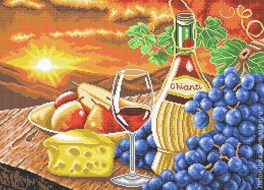 Вино и яства.