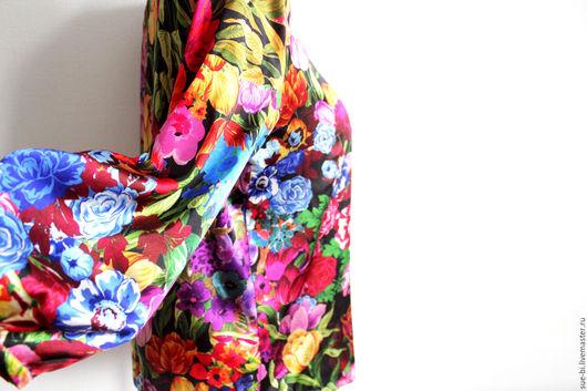 """Блузки ручной работы. Ярмарка Мастеров - ручная работа. Купить Блузка из шелка с рукавом """"Тюльпаны"""". Handmade. Блузка из шелка"""