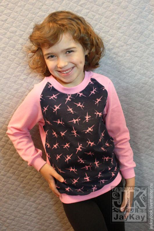 """Одежда для девочек, ручной работы. Ярмарка Мастеров - ручная работа. Купить Детский свитшот """"Балерины"""". Handmade. Розовый, свитшот на заказ"""