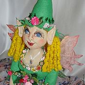 Куклы и игрушки handmade. Livemaster - original item Sculpture textile doll, Alva (Elf). Handmade.