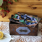 """Для дома и интерьера ручной работы. Ярмарка Мастеров - ручная работа Шкатулка для чая и сладостей  """" Сливовый джем"""". Handmade."""