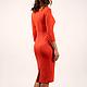 Платья ручной работы. Платье. San Sarafan. Интернет-магазин Ярмарка Мастеров. Оранжевый, Оранжевое платье, модная одежда
