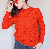 """Одежда ручной работы. Ярмарка Мастеров - ручная работа Пуловер, джемпер, свитер """"Red mood"""". Красное.. Handmade."""