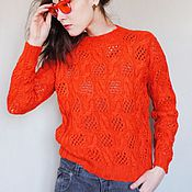 """Одежда ручной работы. Ярмарка Мастеров - ручная работа Пуловер """"Red mood"""". Красное настроение.. Handmade."""