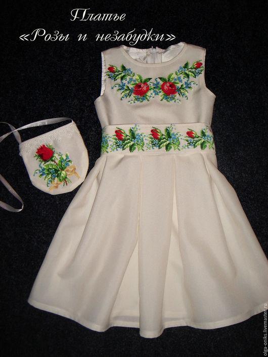 Платье `Розы и незабудки`