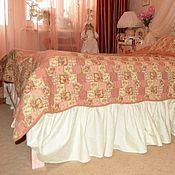 Матрасы ручной работы. Ярмарка Мастеров - ручная работа Подзор-юбка для кровати под матрац (сатин-жаккард,1 00% хлопок). Handmade.