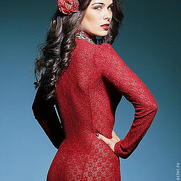 """Одежда ручной работы. Ярмарка Мастеров - ручная работа Платье """"Lady in red"""" кружевное. Handmade."""
