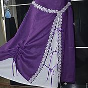 Одежда ручной работы. Ярмарка Мастеров - ручная работа Льняная юбка двойная. Этно, Бохо Стиль. Handmade.