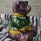 Игрушки животные, ручной работы. Интерьерная игрушка из папье маше Мишка тедди. Картины и декупаж от СветЛаны Визун (sunnyshop). Интернет-магазин Ярмарка Мастеров.