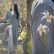 Одежда handmade. Livemaster - original item Stylish linen set in boho style
