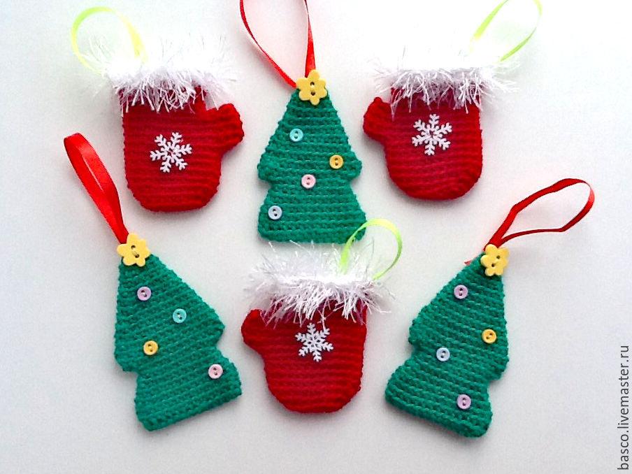 Вязаные новогодние елочные украшения – купить в интернет ...