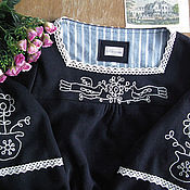"""Одежда ручной работы. Ярмарка Мастеров - ручная работа Платье """"Зимняя усадьба"""" с райскими птицами. Handmade."""